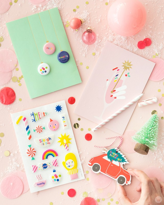 Hallmark Signature Christmas cards created in partnership with Oh Happy Day