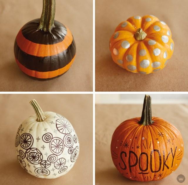 Pumpkin decorating with Hallmark artists | thinkmakeshareblog.com
