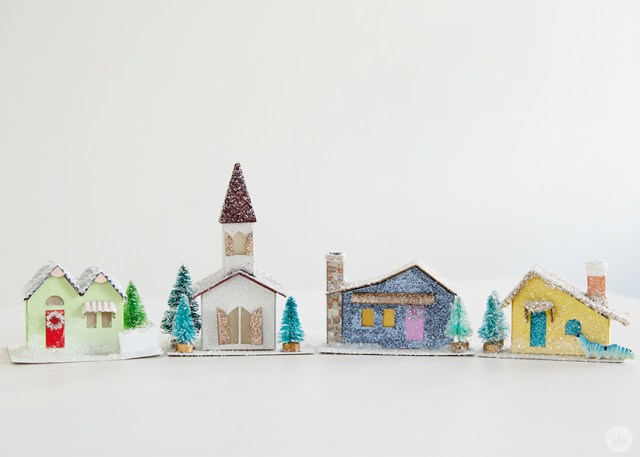 "Glitter houses, or ""putz houses"""