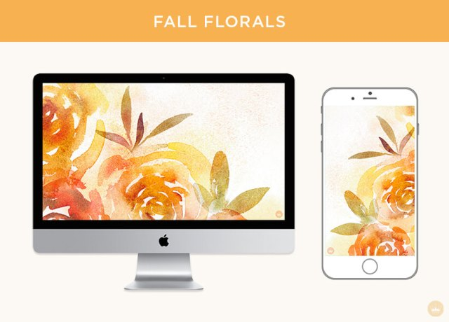 Fall floral digital wallpapers