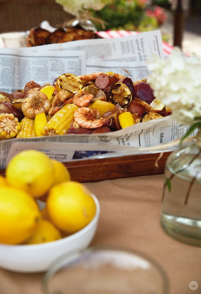 Host a shrimp boil for Mother's Day time together