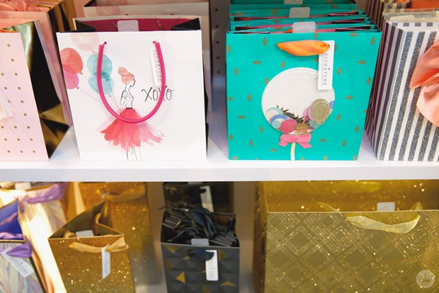 Signature gift bag display at the new Hallmark Signature Store in Santa Monica, CA