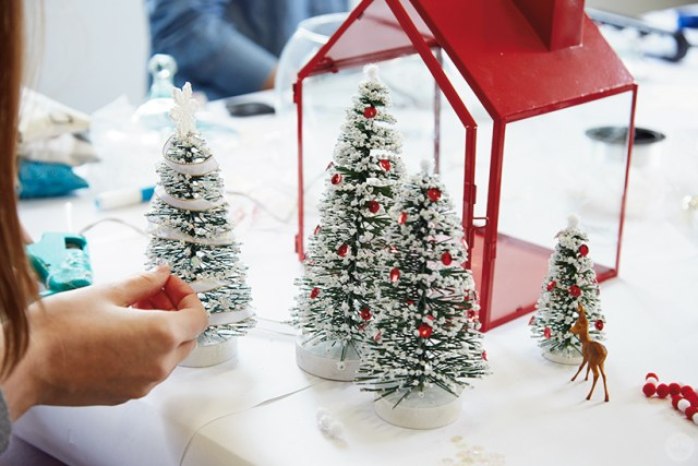 Decorating mini-trees to put inside a terrarium