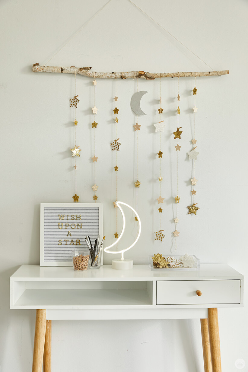 Create Your Own Dreamy Room Decor With A Diy Star Wall Hanging Think Make Share