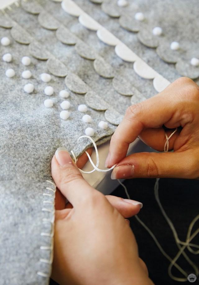 Sewing a DIY Christmas stocking