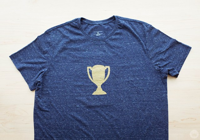 Father's Day screen print trophy t-shirt