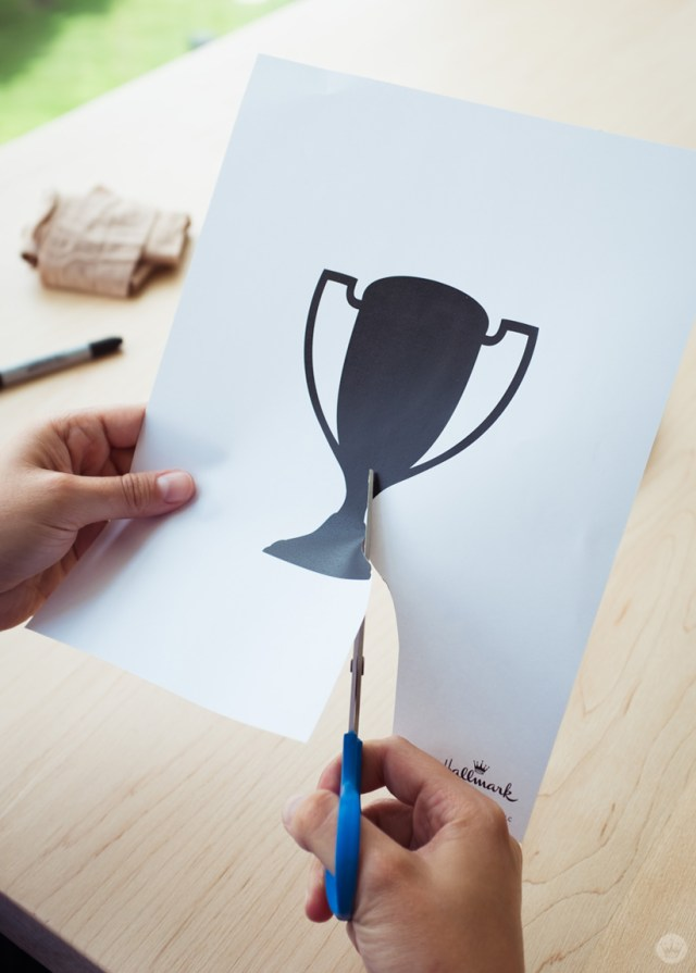 Cutting out a trophy silhouette