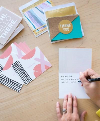Thank You Card Sending   thinkmakeshareblog.com