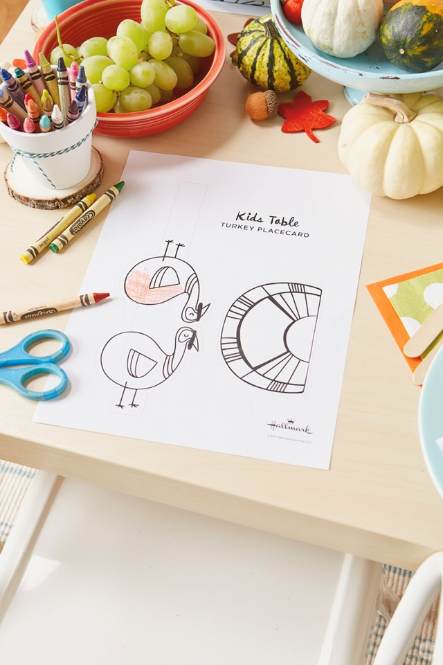 thanksgiving kids' table crafts : Turkey place card