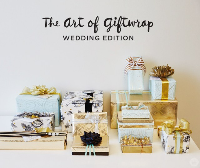 Wedding gift wrap ideas featuring Hallmark's Classic Luxury collection.