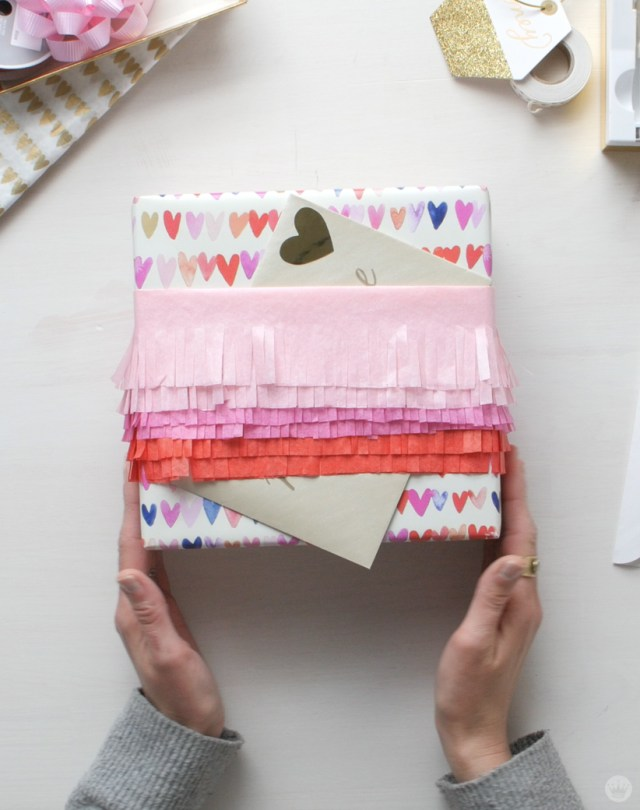 3 Tissue Paper Gift Wrapping Ideas For Valentine S Day Or Any Day