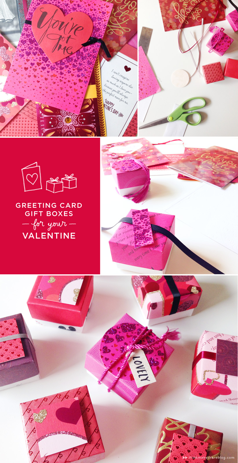 Make valentines day treat boxes out of recycled greeting cards each box only takes one card and less than 15 minutes to make download and print our free template and get folding m4hsunfo