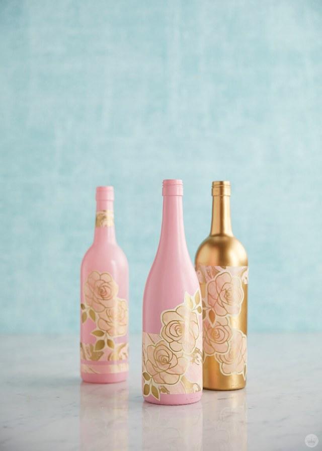 Upcycled wine bottles   thinkmakeshareblog.com