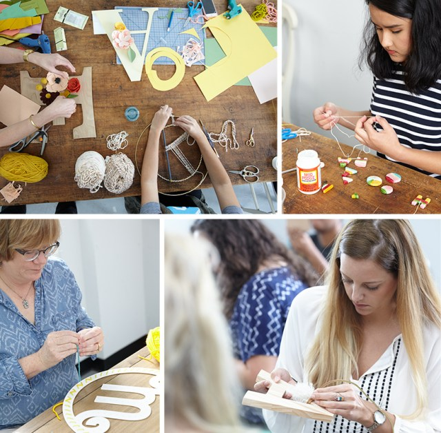 Yarn Monogram Workshop | thinkmakeshareblog.com