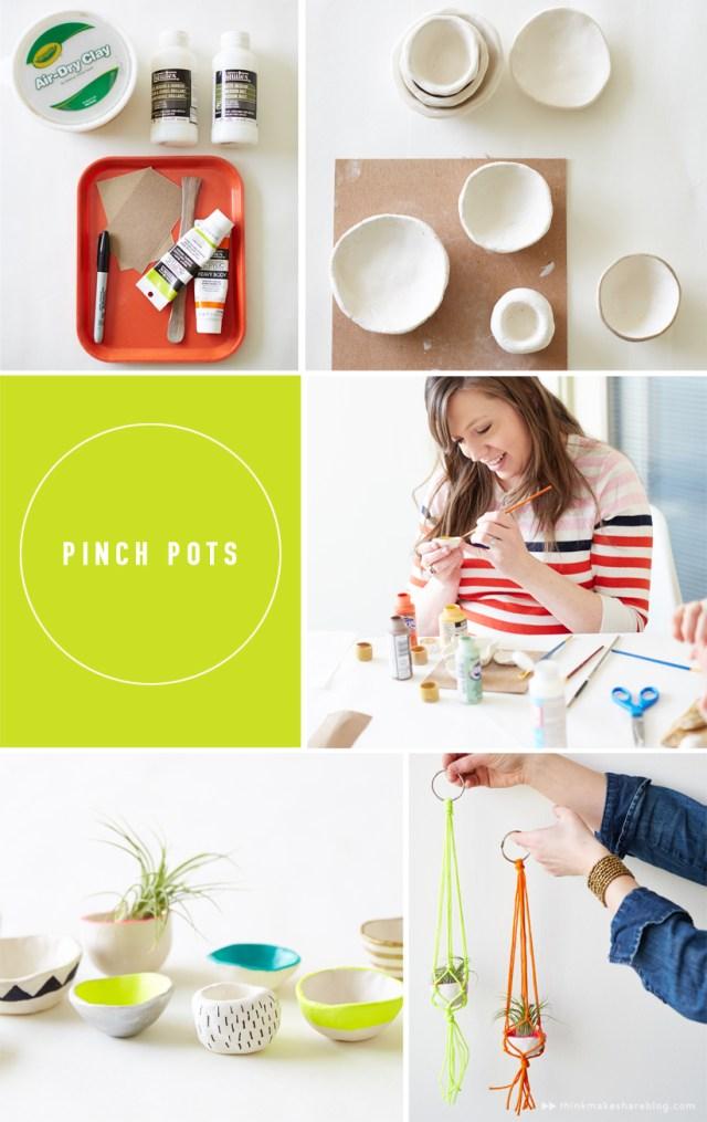 DIY Crayola clay pinch pots with Hallmark artists