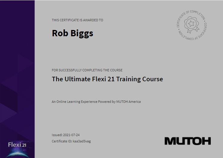 Flexi Training Course Certificate