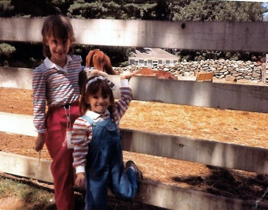 Kids wearing primary colors in the 1980s
