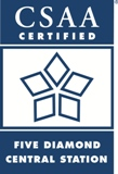 central station alarm five diamond logo