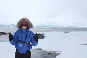 Setting foot on Antarctica