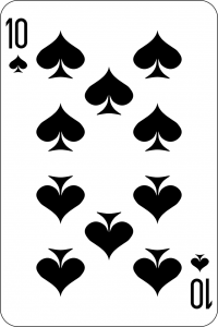 The Power of 10 and the 10 of Spades