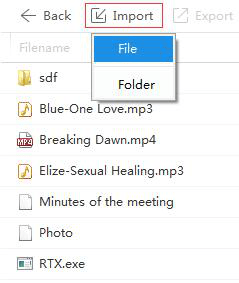 how to import file or folder