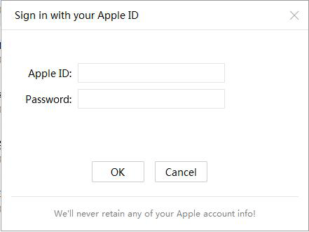 Inscreva-se no ID da Apple