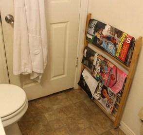 crib rail magazine rack behind door