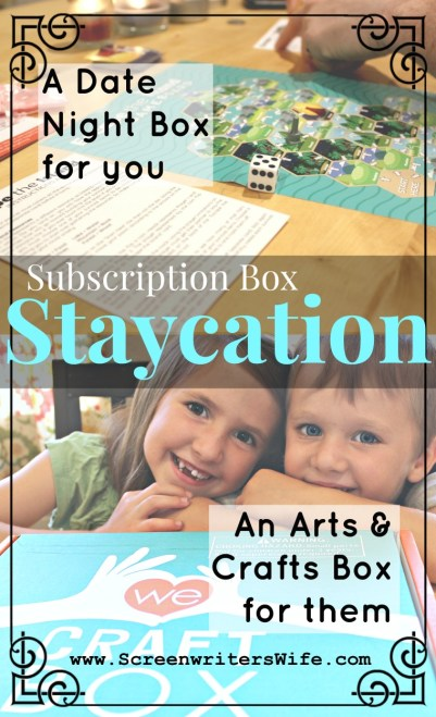 Crated With Love & WeCraft Subscription Box Staycation Date Night & Kids Box
