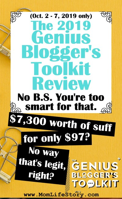 2019 Genius BLOGGER'S Toolkit Review pin