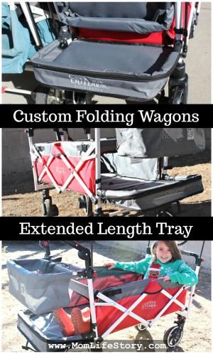 custom folding wagons extended length tray