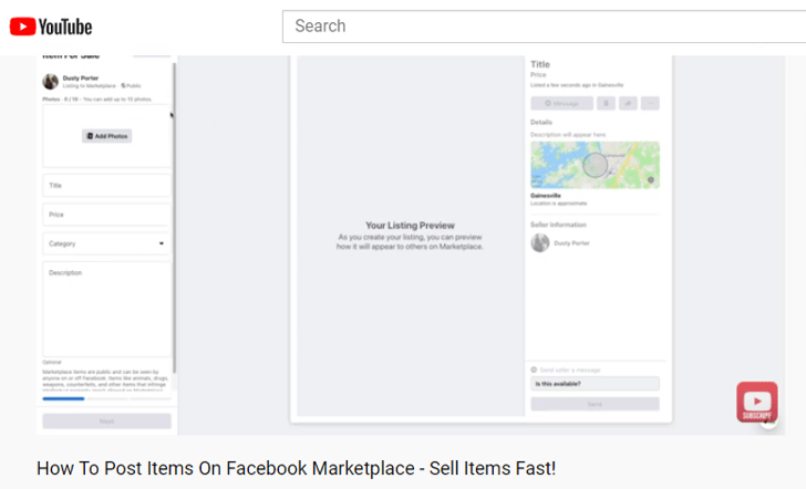 how to post items on Facebook Marketplace
