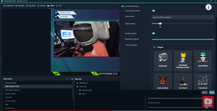 How to Add Facemasks to Your Live Stream