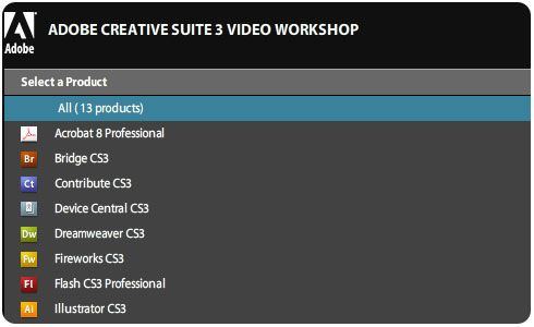 Video demos de CS3 de Adobe