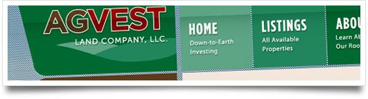 Website Design for AgVest Land Co, LLC - Isola Mississippi
