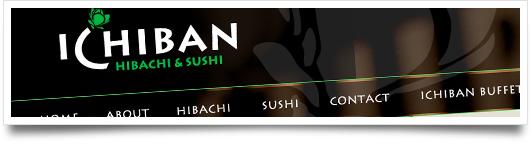 Website Design for  Ichiban Hibachi and Sushi - Flowood Mississippi