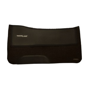 ThinLine Western Saddle Pad Black Felt Liner with fender