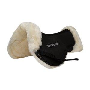 ThinLine Sheepskin Comfort Half Pad Natural Angled