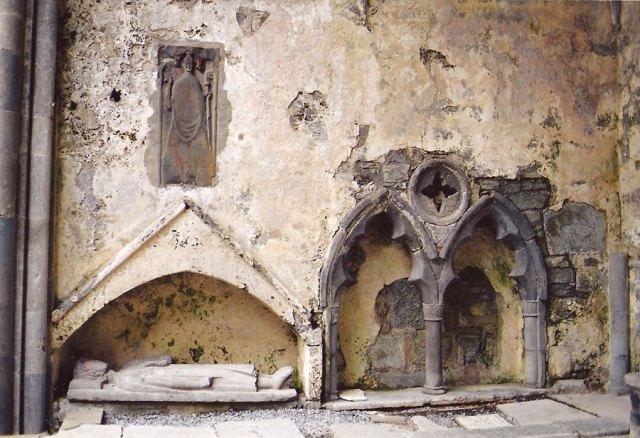 Tomb and Effigy of Irish Chieftain - Corcomroe Abbey - the Burren