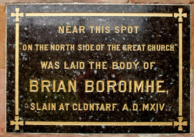 memorial for Brian Boru - Armagh Cathedral