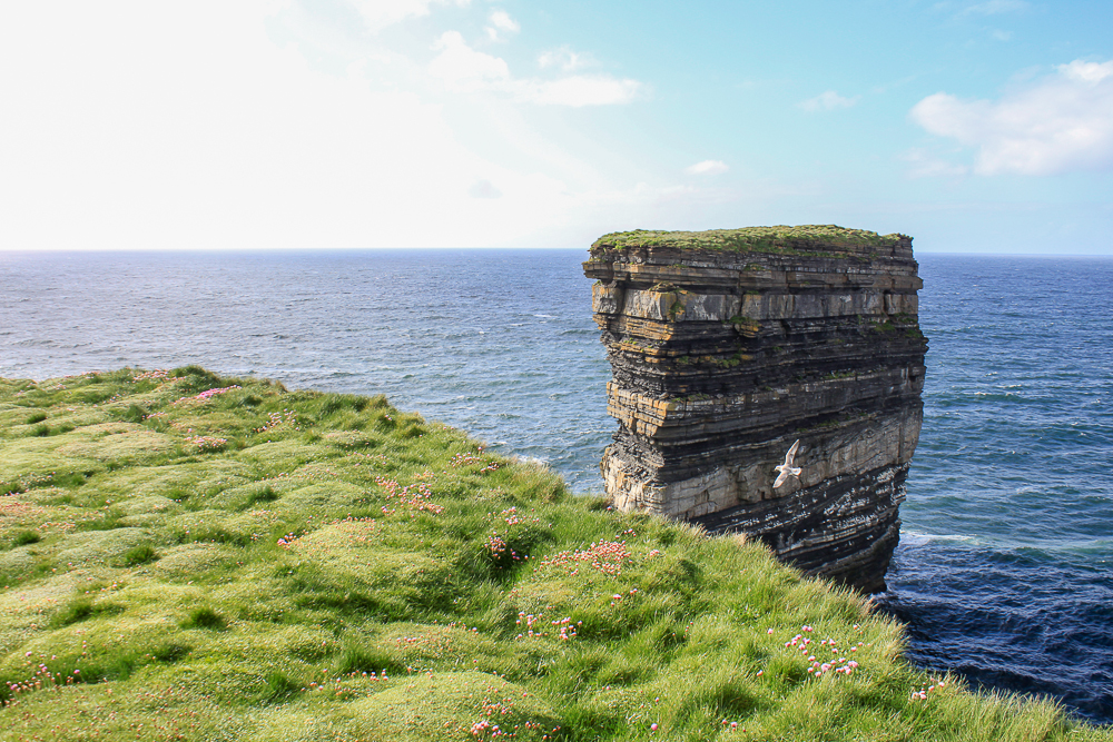 Dún Briste - the sea stack - at Downpatrick Head