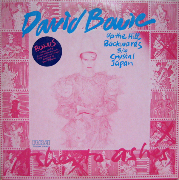 "David Bowie - Up The Hill Backwards / Crystal Japan - 7"" single cover"