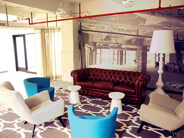 Shared space for coworking and students at Grand Circus.