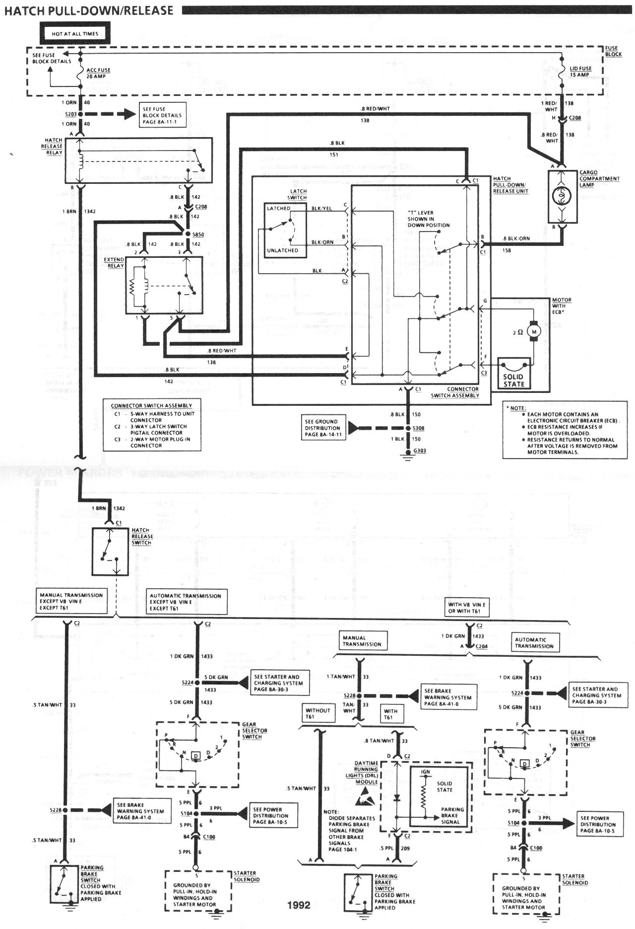 91 92 Hatch Wiring Diagram Needed