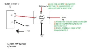 Wiring electric fan with HAYDEN sensor  Third Generation