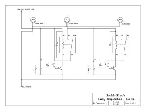 Easy DIY Sequential Tails Circuit (A Work in Progress