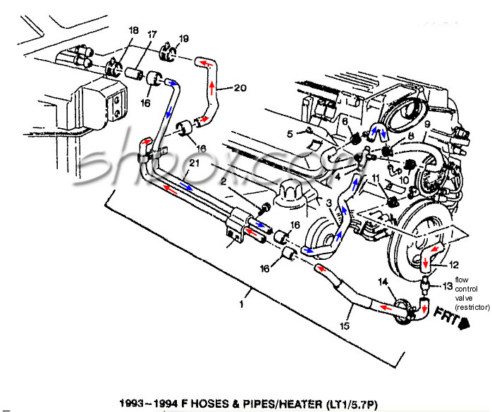 1993 Water Pump Z28 Camaro Lt1