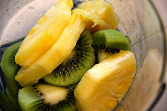kiwi and pineapple