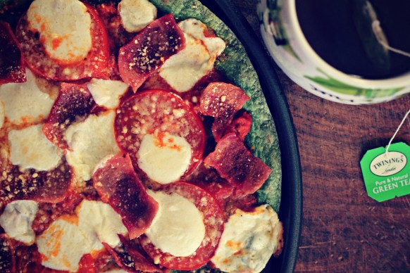 pizza and tea