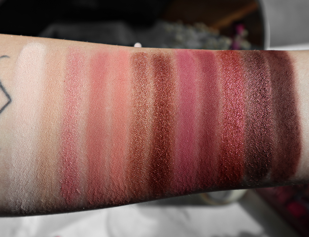 Urban Decay Naked Cherry Palette Swatches Review