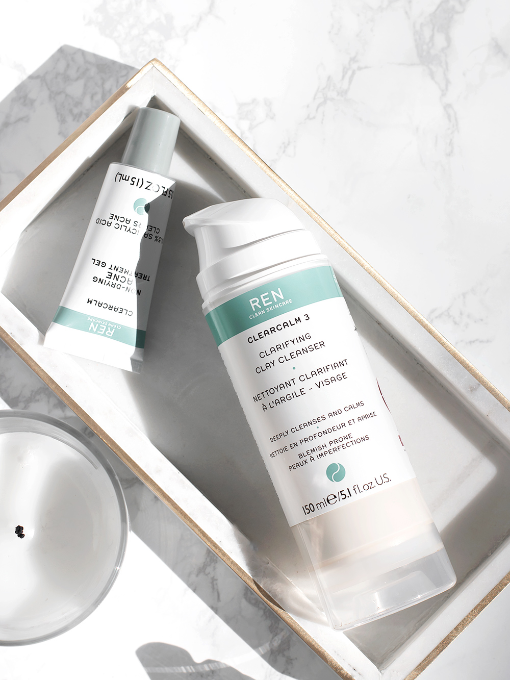 Ren Clearcalm Clay Cleanser and Acne Treatment Gel